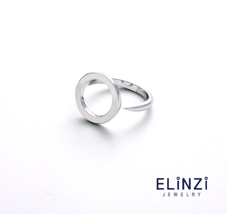 Soft Circle Open Silver Ring / silver ring, 925silver, multifinger ring, open ring, free size by ELINZIjewelry on Etsy