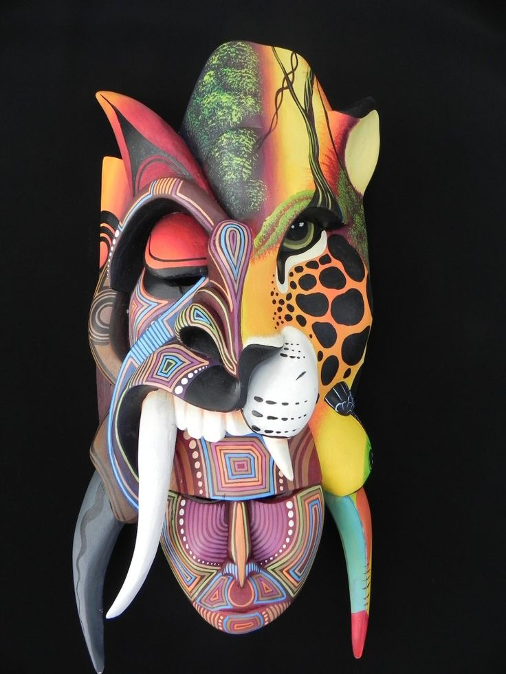 Costa Rica tribal mask. love this. Might do this for my mask project.