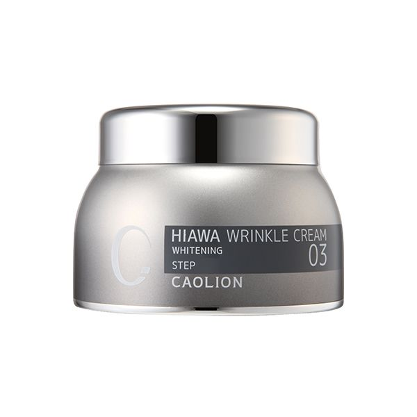 HIAWA Whitening Snow Wrinkle Cream Diminishes imperfections  and nourishes rough, wrinkled skin (Whitens + Reduces Wrinkles) #caolion #cosmetics #wrinklecare #snowwhite #white #brighten #bright #winter #silver #skincare #facial #toner #beauty #카오리온 #화장품 #뷰티 #화이트 #백설공주 #실버 #은 #은색 #겨울 #미백 #데일리
