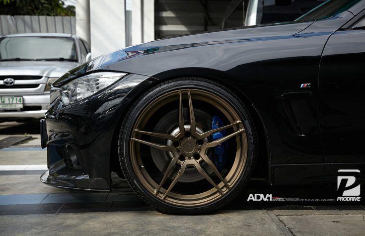 Black Sapphire Metallic Bmw F32 435i Adv05 Mv 1 Cs Monoblock Wheels Bmw 435i Bmw 435i