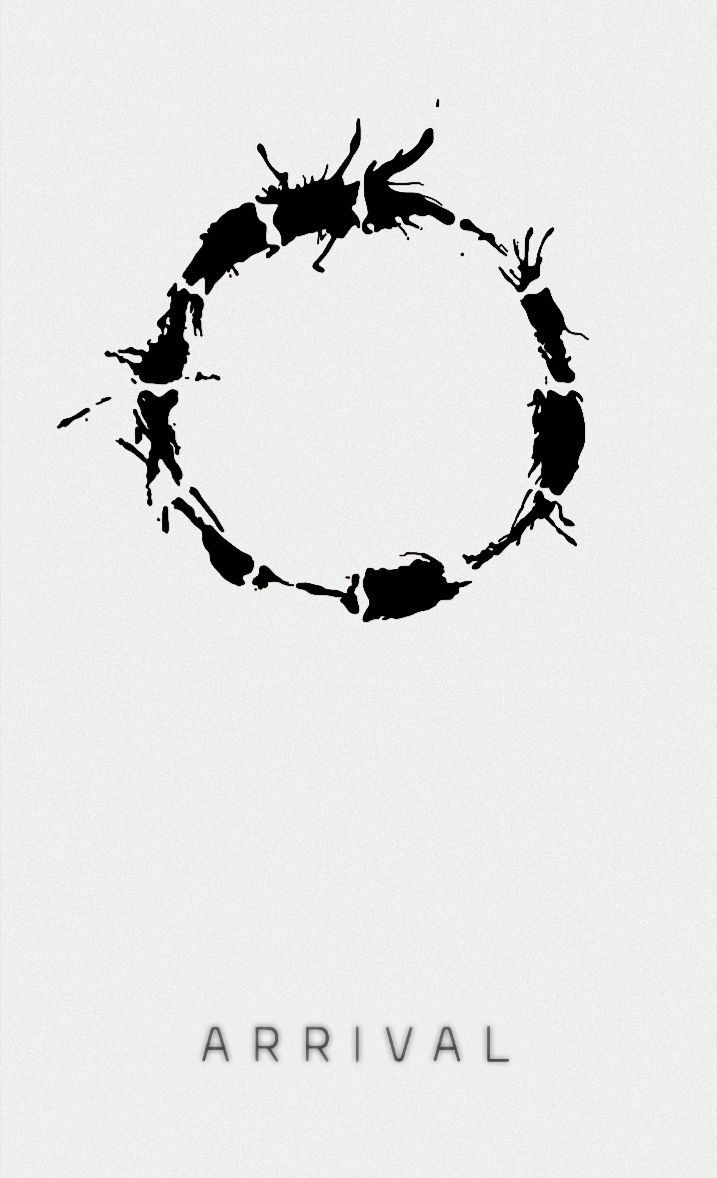 Poster design monochrome - Arrival 2016 One Of The Most Interesting Sci Fis I Ve Ever