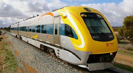 The 'Prospector' train between Perth and Kalgoorlie