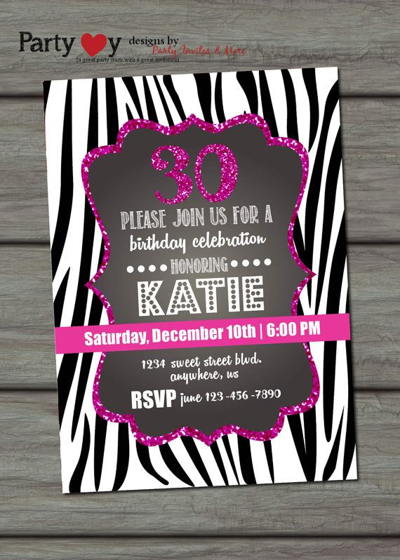 60 best pink party images on pinterest | birthday party ideas, Birthday invitations