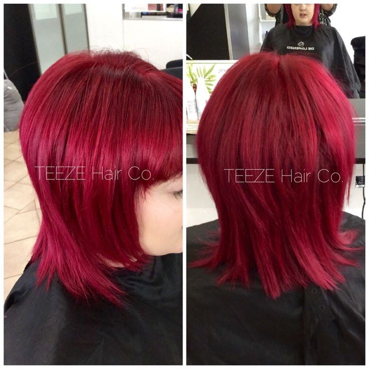 Manic panic cleo rose with hot hot pink vampire red and rock n roll red. Colourist is Tiarne at TEEZE Hair Co.