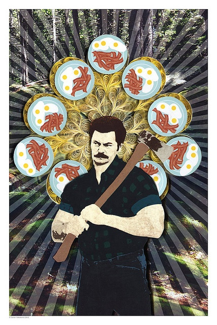 Ron Swanson poster - all things paper