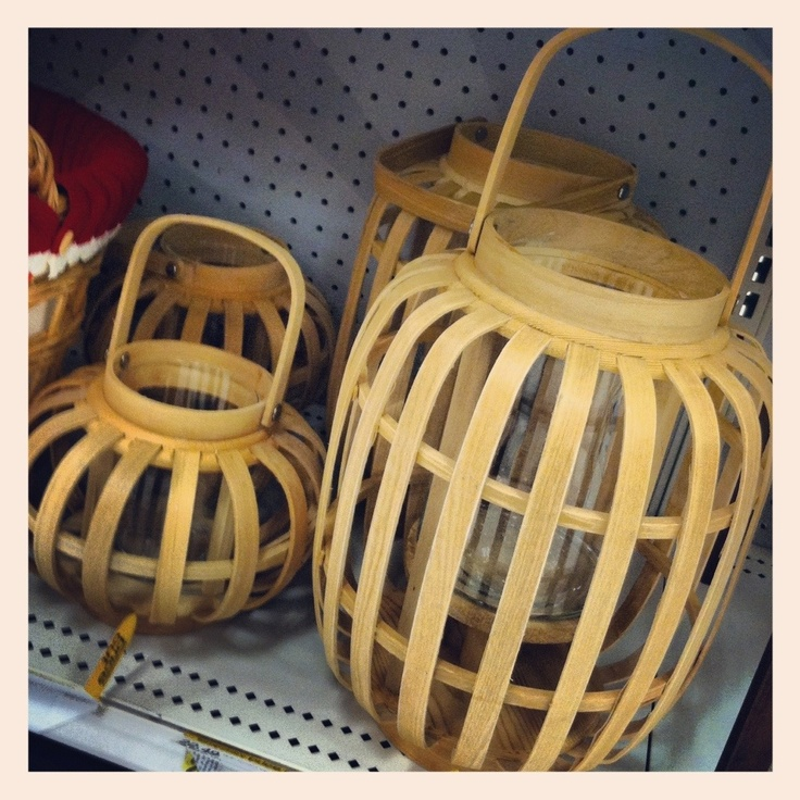 Looks very Scandinavian {like a picnic basket}!  Great lanterns for summer or winter.