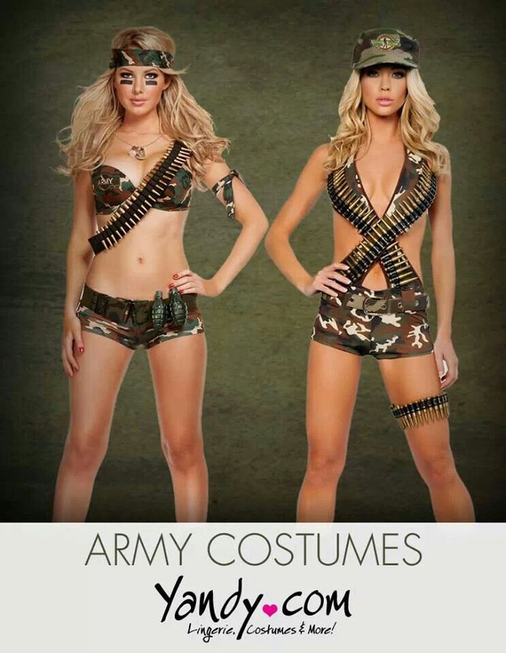 Sexy army outfits.
