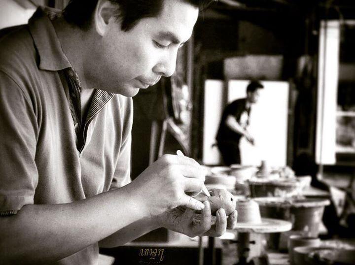 Handaru Pratomo The Artisan : Geoffrey Tjakra.  Taken at Pameran Keramik Identitas at Museum Seni Rupa, Jakarta few days ago.  Tools : #Nikon #D3100 + #kit_lens