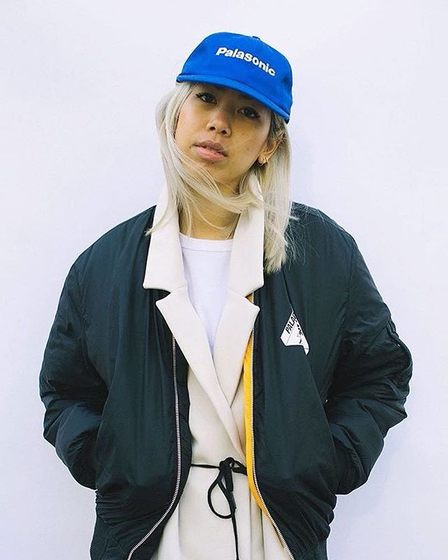 Cap game strong with @candyrosiee's Palasonic  Photo: @mathieuvilasco