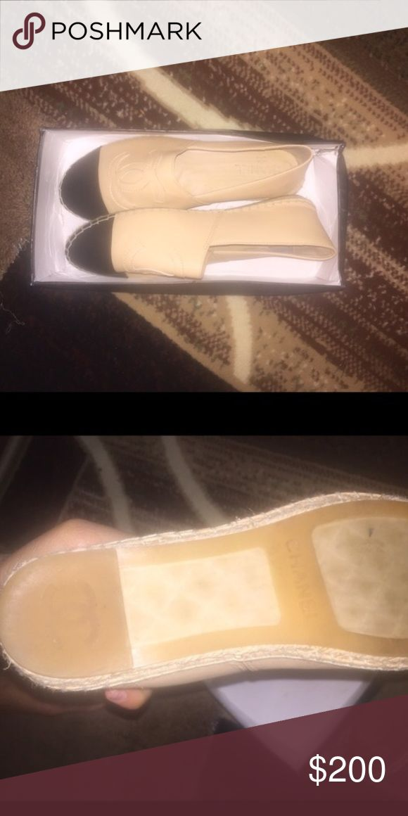 Chanel espadrilles Price reflects authenticity so Do not ask and do not buy then act surprised. It was a gift and is too small. Only worn once. CHANEL Shoes Espadrilles
