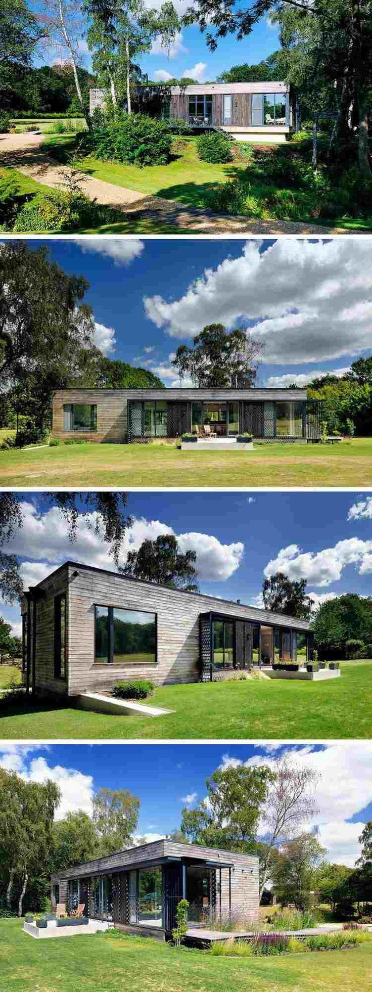 maison BBC pour vivre en harmonie avec la nature, jardin moderne et meubles en bois