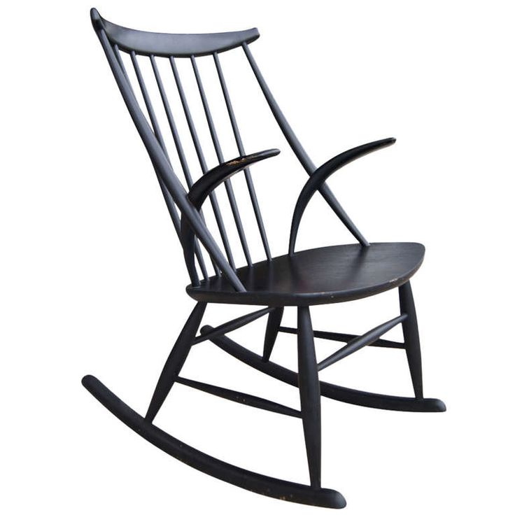 Vintage Sculpture Rocking Chair by Illum Wikkelso | From a unique collection of antique and modern rocking chairs at http://www.1stdibs.com/furniture/seating/rocking-chairs/