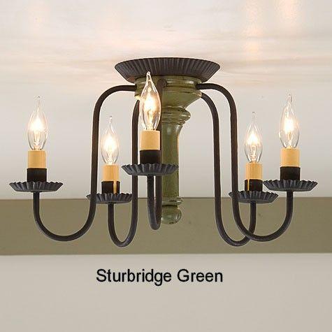 Irvins berkshire ceiling light in sturbridge colors primitive lampsprimitive lightingprimitive countryfoyer