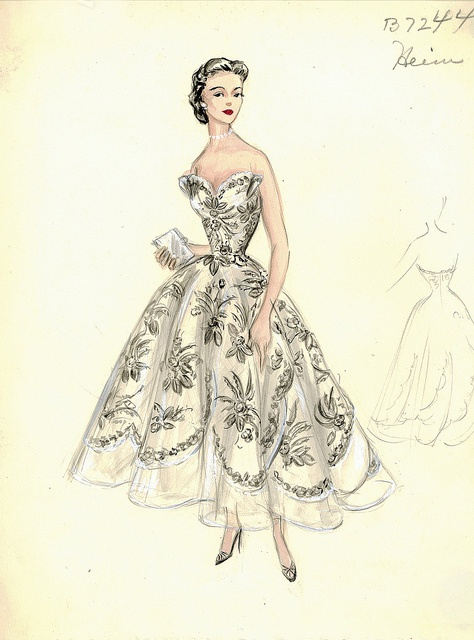 Jacques Heim Dress by FIT Library Department of Special Collections, via Flickr