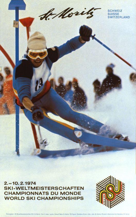 St-Moritz 1974 Ski-Weltmeisterschaften - Championnats du monde - World ski championships