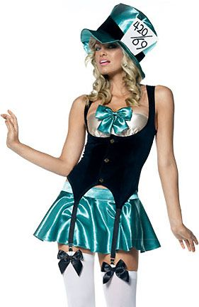 i have this and it was a lot of fun to wear. i think i made it better then the model lmao: Parties Hostess, Hostess Costumes, Halloween Costumes Ideas, Hatters Teas, Wonderland Costumes, Cosplay Costumes, Sexy Costumes, Teas Parties, Mad Hatters Costumes