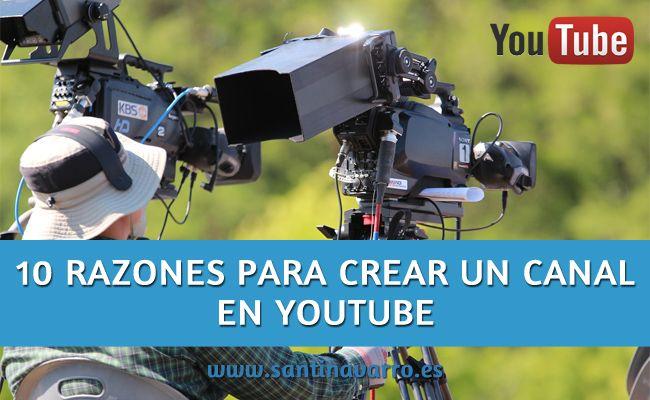 Si estás pensado en hacer un canal en la red social en Youtube, no te lo pienses, aquí te cuento 10 motivos por los que deberías hacerlo. http://www.santinavarro.es/como-abrir-correo-electronico-google-hotmail-yahoo/