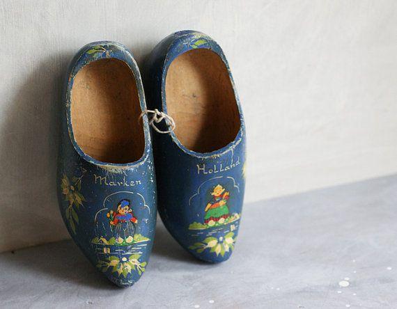 Vintage Dutch Wooden Shoes Souvenir of Marken by susantique, $40.00