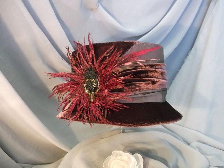 Купить Шляпка с брошью фазан. Cделать на заказ. Магазин рукоделия Крафтбург | арт.:4121