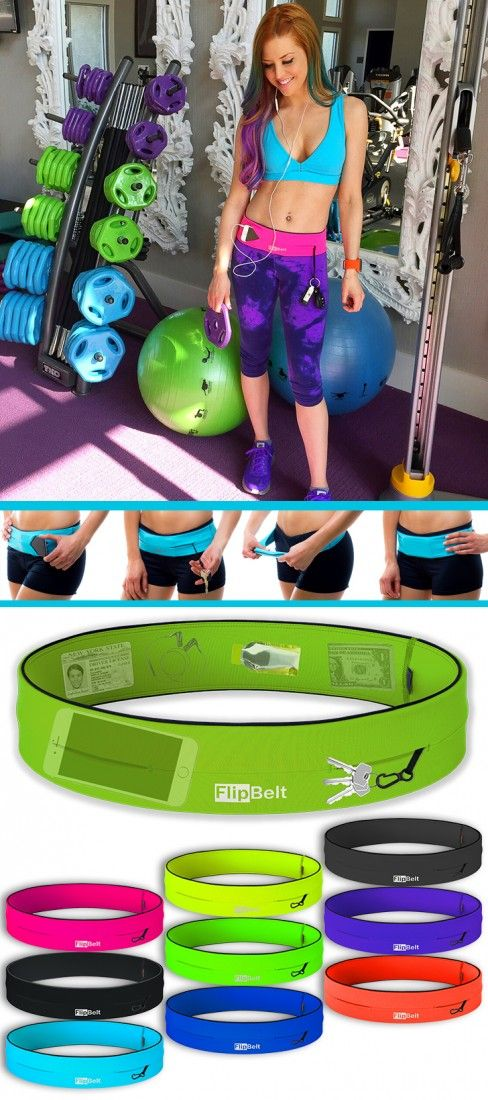 FlipBelt is a great addition to your workout gear....It's NOT a fannypack!  LOL...or IS it?