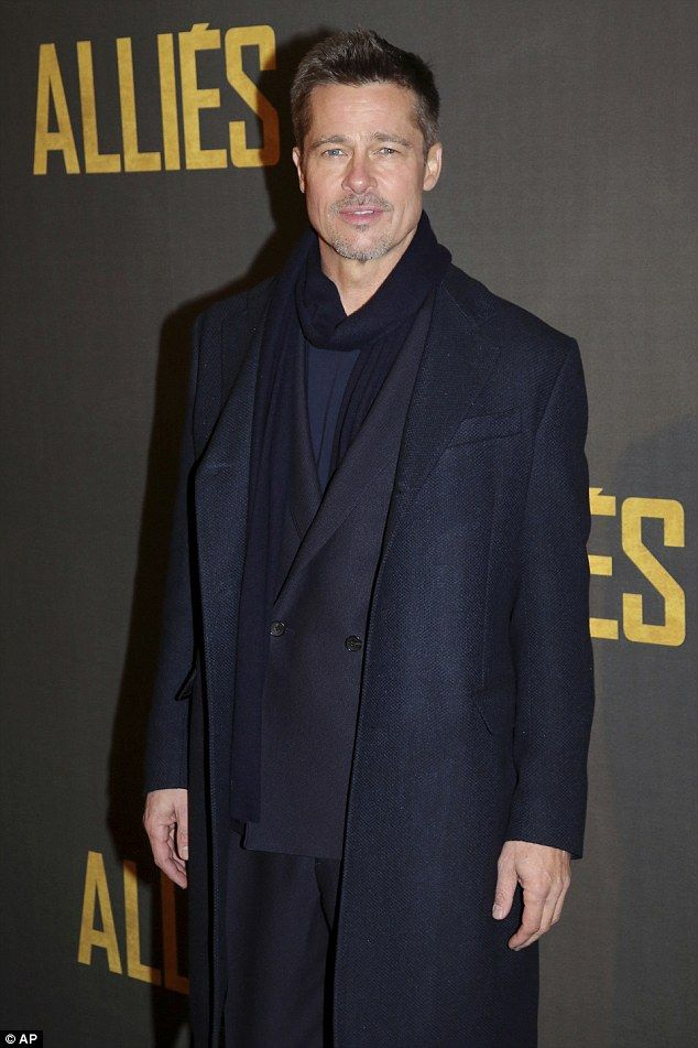Better than ever: Brad Pitt, 52, looked healthy and happy at the Paris photocall for his n...