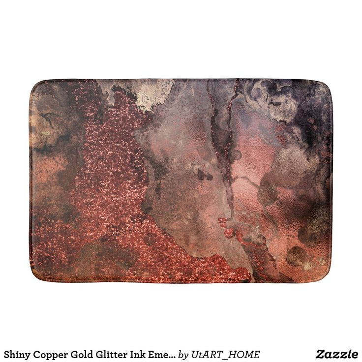 Shiny #gold er #Gold #glitter  Ink Emerald #marble  Bath Mat  This chic elegant sparkling and luxury copper blush ombre Glitter Marble design is the perfect gift for her, for the stylish lady, perfect for her birthday, sweet sixteen favor, the girly girl and modern fashionista or any occasion the #girly  girl designed #utart