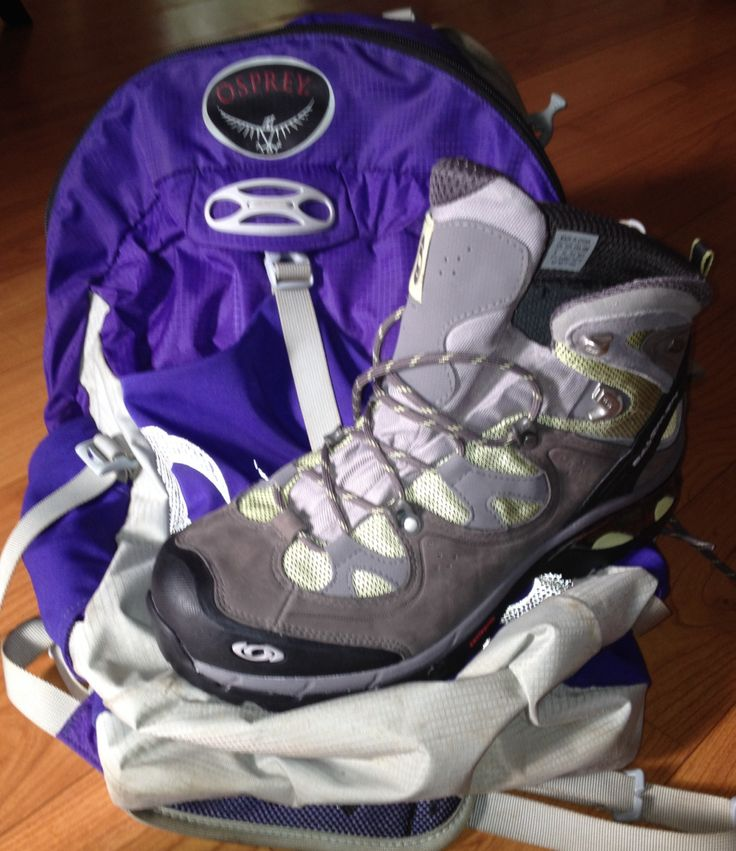 My absolute FAVORITE boots and pack for #kilimanjaro climbs-- Salomon 3D GTX and Osprey Talon!
