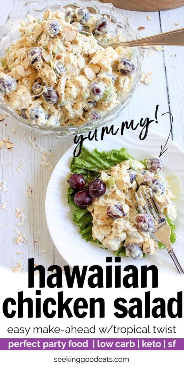 Hawaiian Salad Recipe (Low Carb and Keto Hawaiian Chicken Salad)