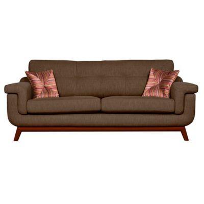 Slipcovers For Sofas Debenhams Large brown fabric uKandinsky u sofa with dark wood feet at Debenhams