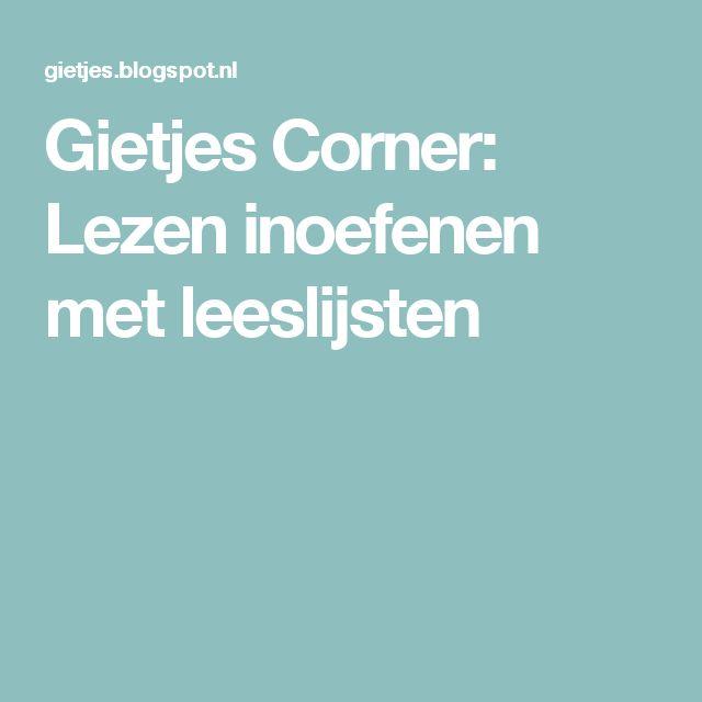 Gietjes Corner: Lezen inoefenen met leeslijsten