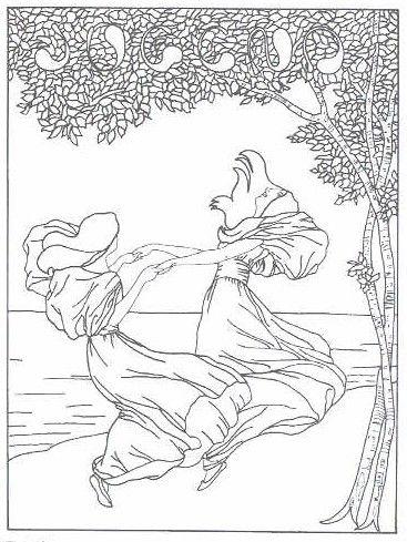 190 best images about Art Nouveau Coloring Pages on Pinterest
