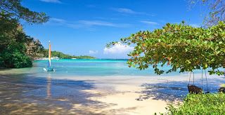 Caribbean vakantie: Jamaica, zon, strand, zee, palmbomen, rum, cocktails, bikini meisjes en reggae