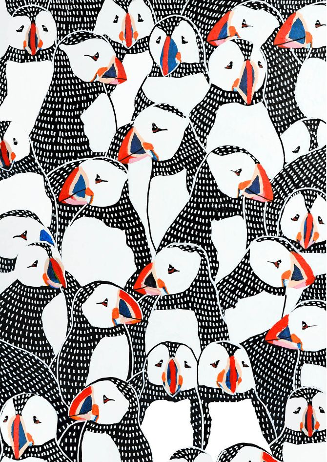 BIRDS BY JOHANNA BURAI For the crowded scenes. Could be a bunch of them on an ice berg?