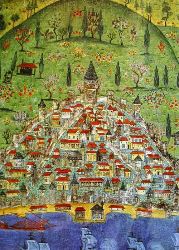 Galata Minyatürü  Matrakçı Nasuh 1537