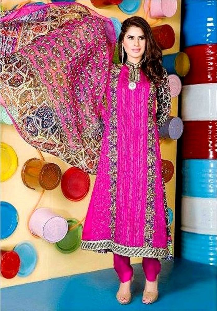 Pakistani Designer 3pcs Indian Salwar Kameez Embroidered Kurta Trouser Stitched #FloridViscoseDesignerCollection2016 #KurtaKameezCigarettePantsDupatta