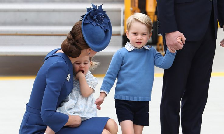 Kate Middleton, Prince William, Prince George and Princess Charlotte arrive in Canada