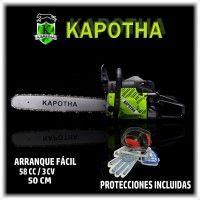 Motosierra Kapotha 58CC de 3 CV+ Kit de Protecciones