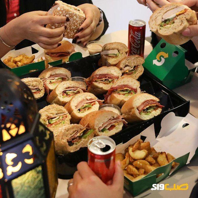 رمضان يجمعنا و صب واى يفطرنا جمع عيلتك وأحبابك و اطلب من عندنا عرض طبق الساندويتشات بطاطس ويدجز او شيبس مشروب غازي معلب ليتر بريا Subway San Jose Food