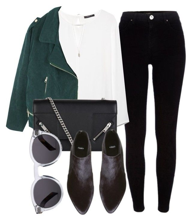 """""""Untitled #5019"""" by laurenmboot ❤ liked on Polyvore featuring moda, River Island, MANGO, Yves Saint Laurent, Topshop e Illesteva"""