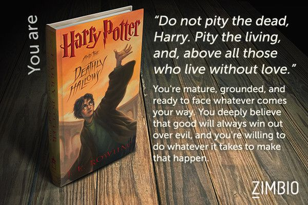 Which 'Harry Potter' Book Are You?   I got Harry Potter and the Deathly Hallows