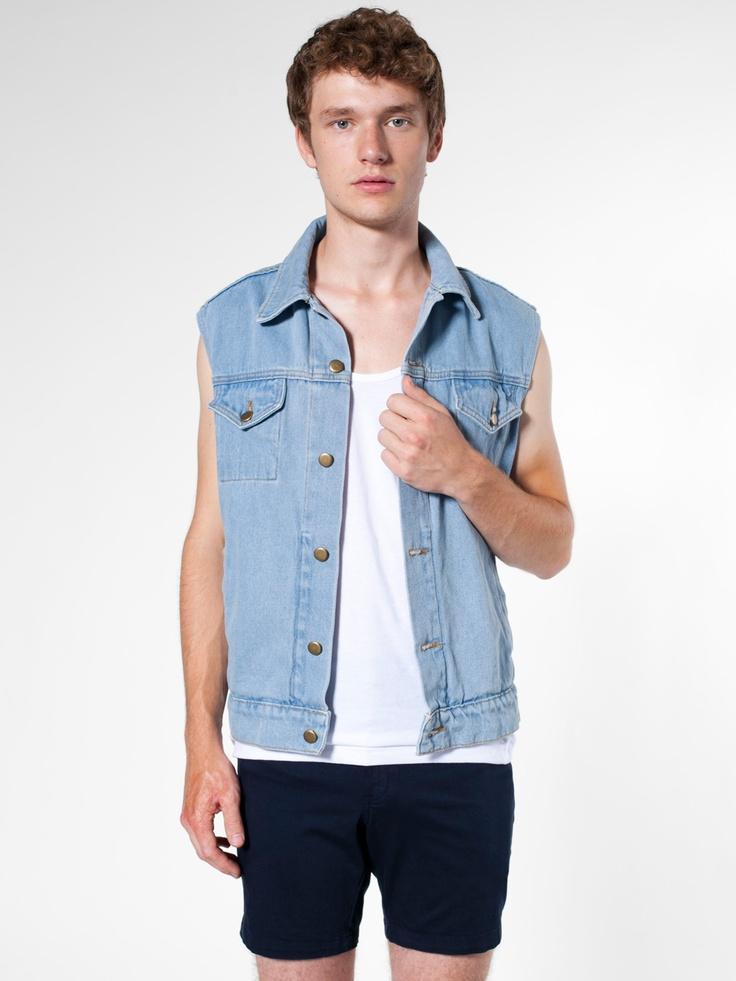 Sleeveless Denim Jacket American Apparel
