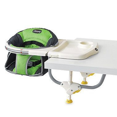 The Chicco® 360 Degree Hook On Chair will help to make your little one's mealtimes happy and interactive. This is a sweepstakes entry. To enter our Baby Bundle Sweepstakes for a chance to win over $1,200 in Chicco and buybuy BABY prizes, visit Facebook.com/buybuyBABY.