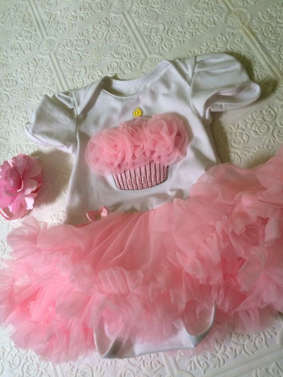 Cupcake birthday outfit first birthday baby birthday by BazzyBears