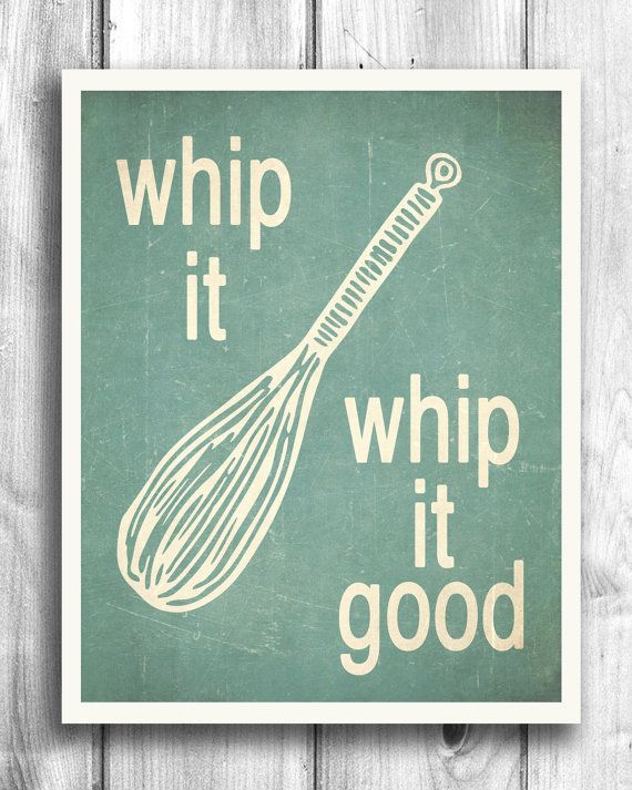 Retro Kitchen Wall Art in teal by Happy Letter Shop