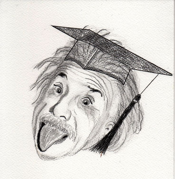 Einstein with mortar board for those who do not recognise this iconic photograph.