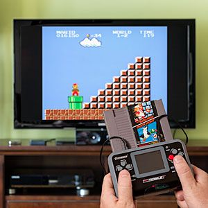 ThinkGeek :: FC Mobile II Portable NES System