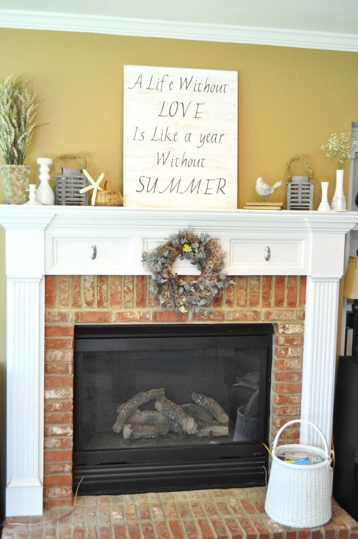 Social Salutations: My Beachy Summer Mantle