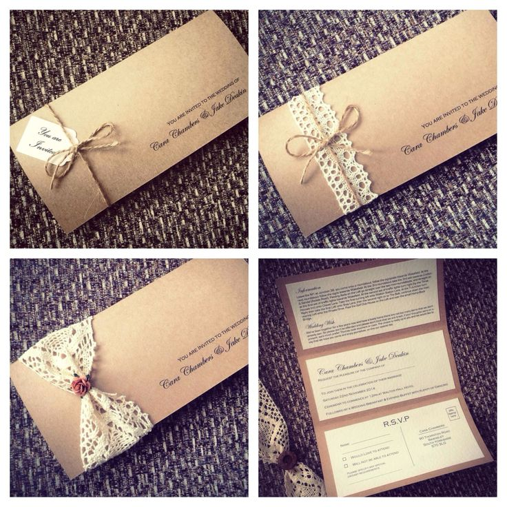 Shabby Chic Hand Made Wedding Invitations For Details Please Email Shabbychic Boutiquehotmail