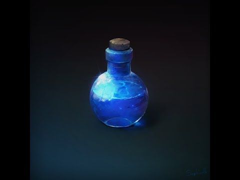 How to Draw For Games #3 | Potion - YouTube   ★ Find more at http://www.pinterest.com/competing/