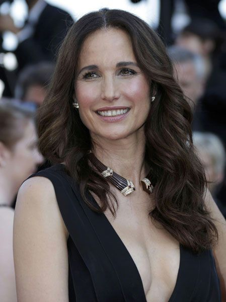 Still as beautiful as always.....Cannes, Andie MacDowell, 54 years old...